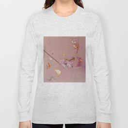 Harry Styles - pink flowers album Long Sleeve T-shirt