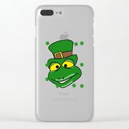 Leprechaun Iguana - St. Patrick's Day Clear iPhone Case