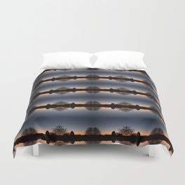 Malvern sunrise Duvet Cover