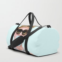 Audrey Hepburn Chewing Bubble Gum - 4 Duffle Bag