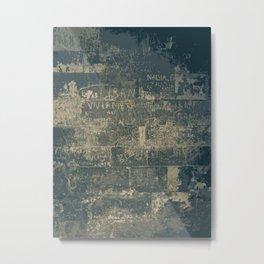 Wall Writings Metal Print