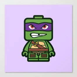 Chibi Donatello Ninja Turtle Canvas Print