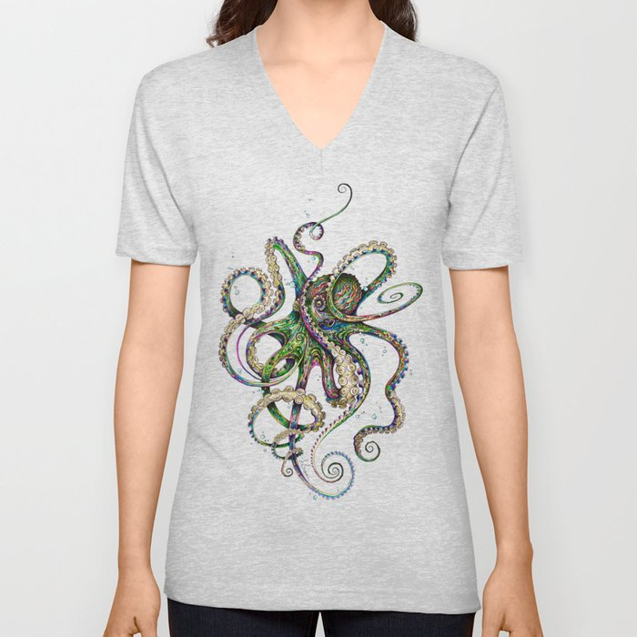 Octopsychedelia Unisex V-Neck