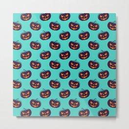 Scarry Halloween Pattern Metal Print