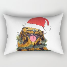 Happy otter of Christmas Rectangular Pillow