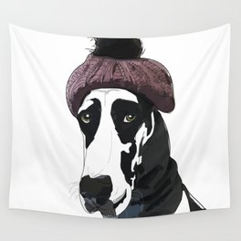 Hipster Great Dane Wall Tapestry