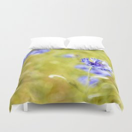 Bachelor Buttons Glowing Duvet Cover