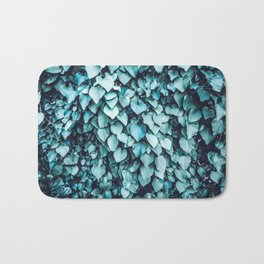 Blue Leaves | Vine | Photography | Turquoise | Botanical | Nature | Tropical | Spring Bath Mat