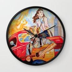 Vintage, music, retro. Wall Clock