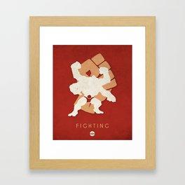 POKÉMON Fighting Framed Art Print