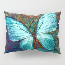 The Blue butterfly Pillow Sham