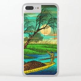 Seba Ohta River Japan Ukiyo e Art Clear iPhone Case
