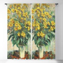 Jerusalem Artichoke Flowers (1880) by Claude Monet Blackout Curtain