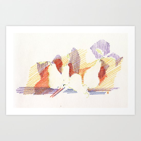 CRAYON LOVE - Shadows  Art Print