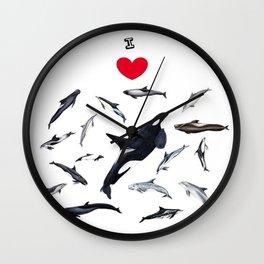 I love dolphins Wall Clock