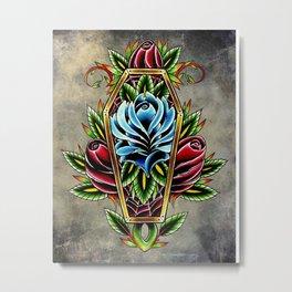 trad rose coffin Metal Print