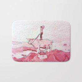 Pink Cowboy Fantasy Bath Mat