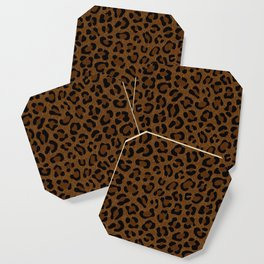 Leopard Print - Dark Coaster