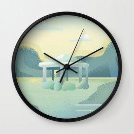 tranquil mornings Wall Clock