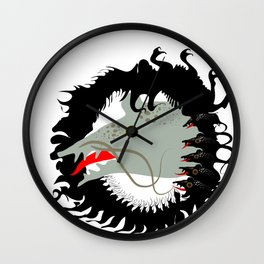 Rat and mouses. Dead black goat. Wall Clock