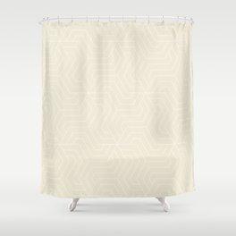 Eggshell - pink - Modern Vector Seamless Pattern Shower Curtain