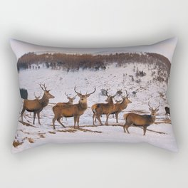The Gathering of Stags Rectangular Pillow