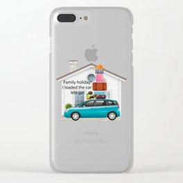 Family Holiday! Clear iPhone Case