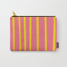 Pink and Yellow Stripes Carry-All Pouch