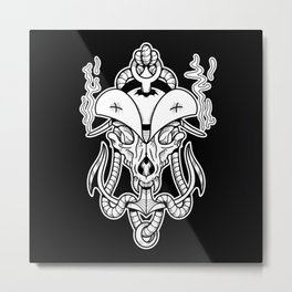 Sigil of the Wolf Captain Metal Print