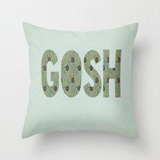 COLLAGE LOVE: GOSH  Throw Pillow