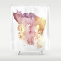 vagina Shower Curtains featuring Verronica's Vagina Print by Nipples of Venus