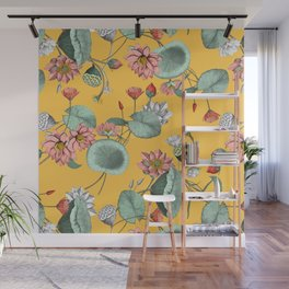 Water lilies florals Wall Mural