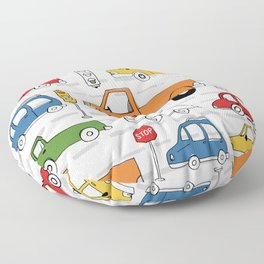 Busy Traffic Pattern Floor Pillow