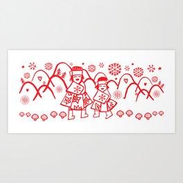 Sister X-mas Art Print