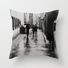 in black and white ...  Throw Pillow