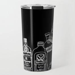 Pop Bottles Black Travel Mug