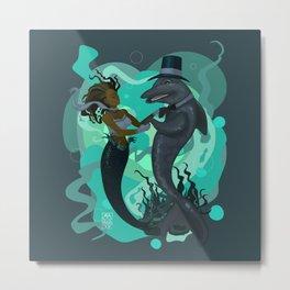 A Mermaid's Dance Metal Print