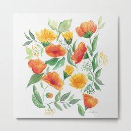 Spring Wildflowers Metal Print