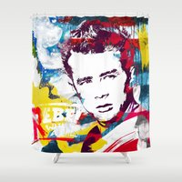 rebel Shower Curtains featuring Rebel by Paky Gagliano