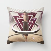 giants Throw Pillows featuring Giants by Trickyricky901