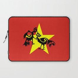 Vietnam Flag, Roosters Sparring Laptop Sleeve