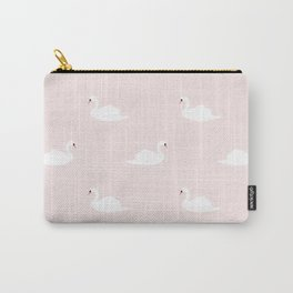 Swan pattern on pink 033 Carry-All Pouch
