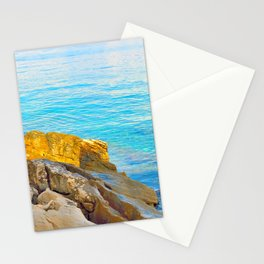 Rocks by the sea Stationery Cards
