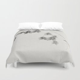 winter oat grass Duvet Cover