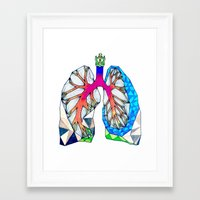 lungs Framed Art Prints featuring Lungs by Heidi Failmezger