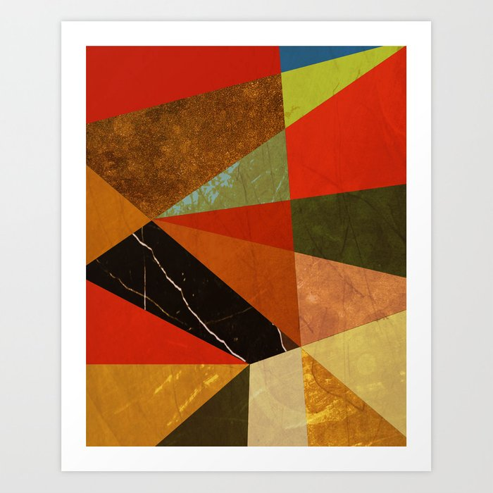 Abstract #257 Vincent's Bedroom Art Print