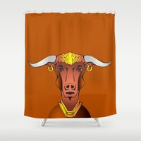 bull Shower Curtains featuring Bull by ale_z