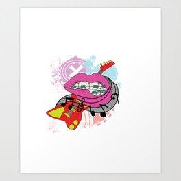 I´m really into Metal Tiara for smiles braces brace girls girl mother gift tee Art Print