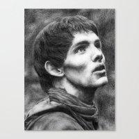 merlin Canvas Prints featuring Merlin by Lisa Buchfink