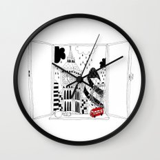 London window Wall Clock